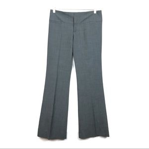 Alice + Olivia Gray Wide Leg Flare Trouser Pants